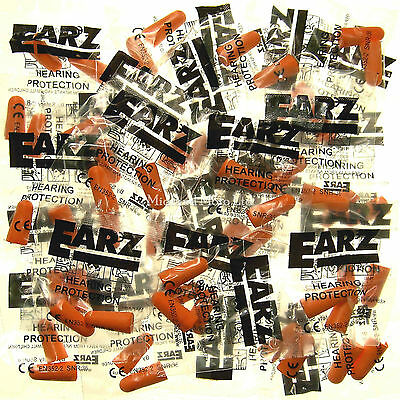 50 Pairs Of Earz Foam Earplugs, 100 Foam Ear Plugs