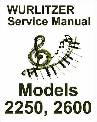 Wurlitzer 2250 and 2600 Service Manual PDF - 202 Pages!