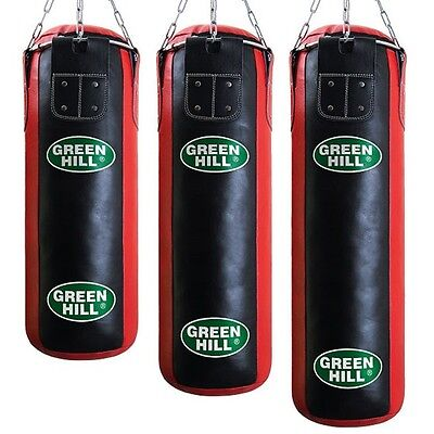 Greenhill Leather Punching Bag Heavy Filled Boxing Kick Boxing MMA UFC