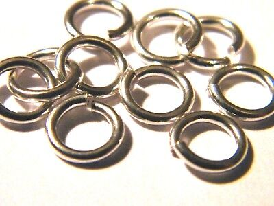 """5x-5mm Solid Sterling Silver Jump Rings """"Heavy""""-Open-Findings-Jump Ring"""