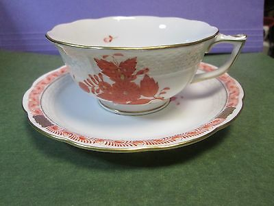 Herend Cup and Saucer Chinese Bouquet Rusty