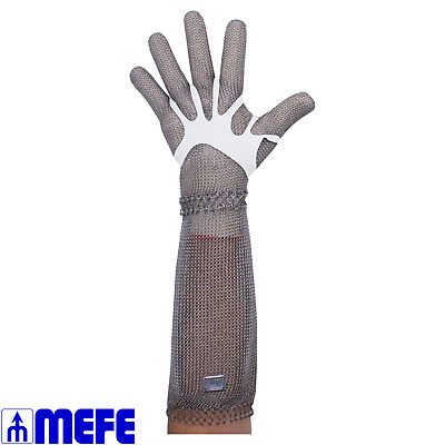 Stainless Steel Chain Mesh Glove Full Hand 20cm Cuff Spring Close (CAT 127R*LC)