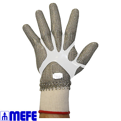 Stainless Steel Chain Mesh Glove - Full Hand, Spring Close (CAT 127R*)