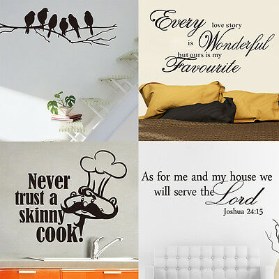 HOT SALE! DIY Removable Art Home Room Decor Vinyl Quote Wall Sticker Decal Mural