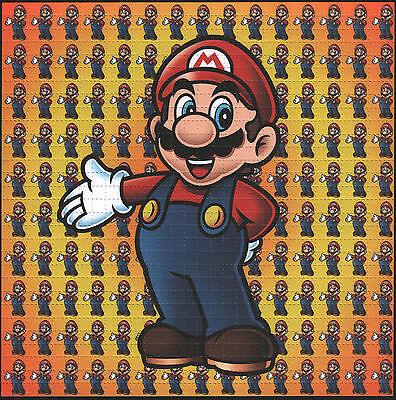 Mario Standing   - High Quality Blotter Art  - India Goa Rave Acid House