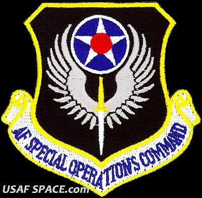 Authentic - Air Force Special Operations Command Afsoc Majcom Usaf Vel Patch