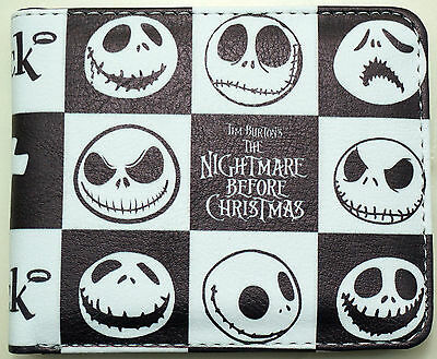 Nightmare Before Christmas JACK Faux Leather Trifold Purse Wallet