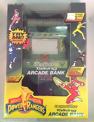 "Mighty Morphin Power Rangers 12"" Electronic Talking Arcade Bank! See Pics!"