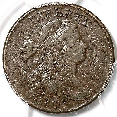 1803 S-249 R-2  PCGS VF 25 100/000 Draped Bust Large Cent Coin 1c
