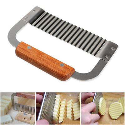Stainless Steel Potato Chip Dough Vegetable Wax Soap Cutter Crinkle Wavy Slicer