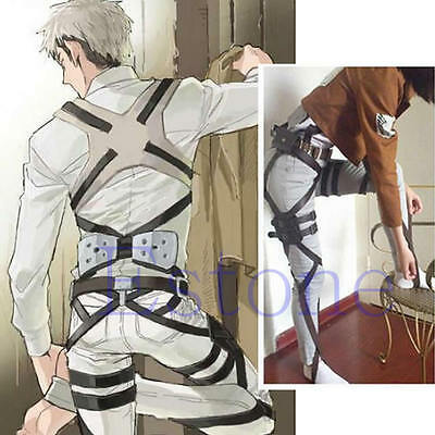 Cos Attack on Titan Shingeki No Kyojin Recon Corps Belt Hookshot Cosplay Costume