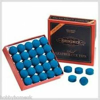 Brunswick Blue Diamond Leather Cue Tips - Sets Of 2 Or 5 - Snooker Pool