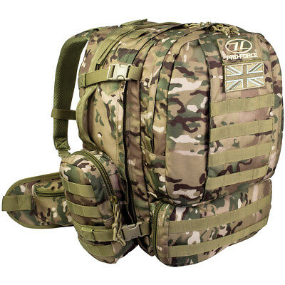 Pro-Force Tomahawk Elite Sf Pack 55L Molle Rucksack Military Backpack Hmtc Camo