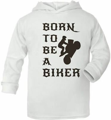Born To Be A Biker Motorbike Cute Present Baby New Born Gift  Supersoft Baby Hoo