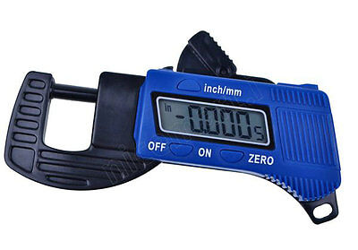 New Digital Outside Micrometer Thickness Caliper 0~12.7 mm Carbon Fibre
