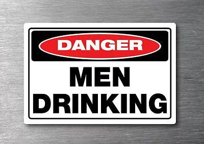 Men drinking sticker 150mm quality water & fade proof vinyl man cave bar beer