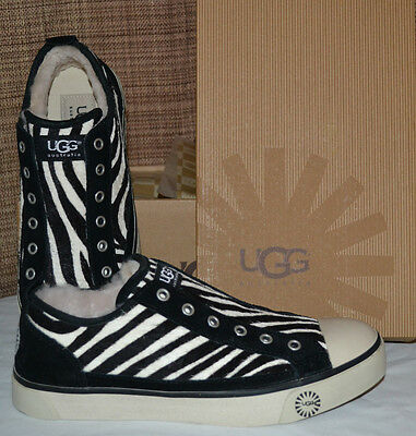 e21738b77b5 UGG $130 LAELA EXOTIC ZEBRA SNEAKERS US 5, 5.5, 6, 6.5 Black White Shoes NEW