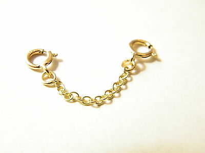 9ct Yellow Gold Safety Extension Chain 4 Bracelet- Necklace Extender