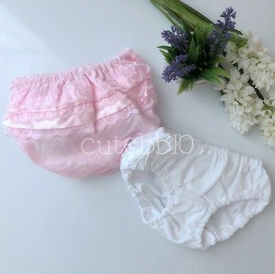 Baby Girls Frilly Lace Underwear Knickers Pants Wedding Christening Party