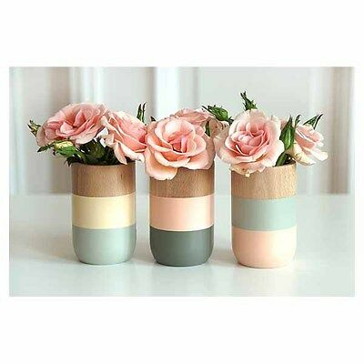 Timber Vases - Set Of Three - Handcrafted and Handpainted