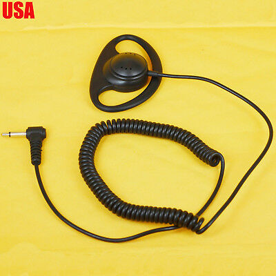 3.5Mm Listen Only D-Ring Earpiece For Speaker Mic Motorola Kenwood Earphone