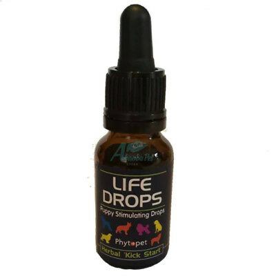 Phytopet Life Drops Stimulate Respiration Newborn Puppys Herbal Kickstart Whelp