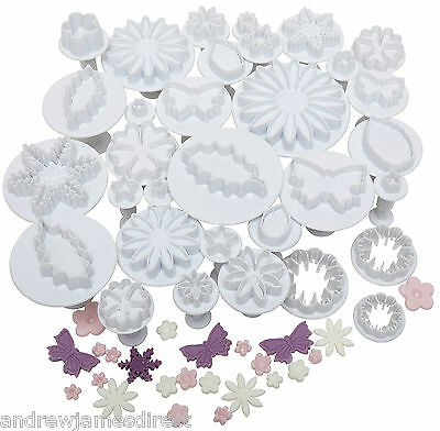 Andrew James 32pc Plunger Cutters Icing Fondant Sugarcraft Cake Decorating Tools