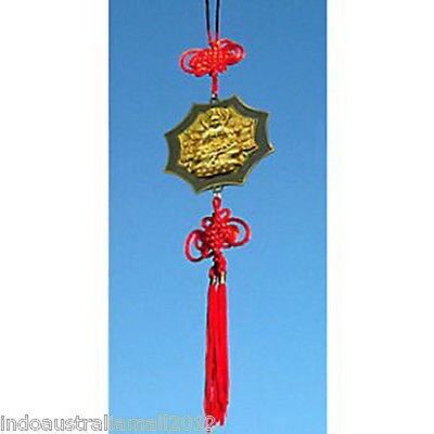Gold Plated Quan Yin-The Female Buddha Hanging for healing & mercy (QY018)