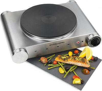 Andrew James Electric Table Top Single Hob Caravan Hot Plate Cooker Stove