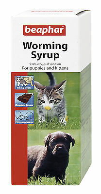Beaphar Worming Syrup For Puppies, Kittens, Dogs, Cats Worm Treatment