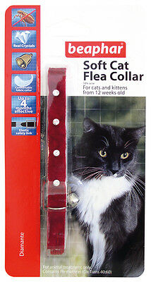 Beaphar Cat Flea Collar, Diamante Collection Red - Valentina Valentti UK