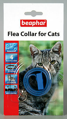 Beaphar Cat Flea Collar, Plastic Collar Blue - Valentina Valentti UK
