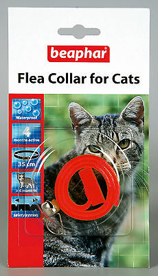 Beaphar Cat Flea Collar, Plastic Collar Red - Valentina Valentti UK