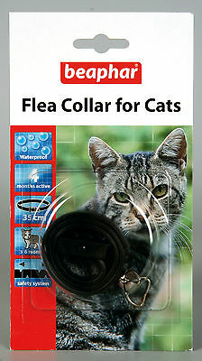 Beaphar Cat Flea Collar, Plastic Collar Black - Valentina Valentti UK