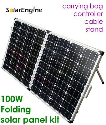100W Folding Solar Panel Controller Cable Stand Bag panneau solaire 12V