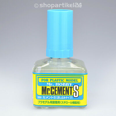 (13,50€/100g) Mr. Cement S Klebstoff Glas mit Pinsel - Mr.Hobby MC-129