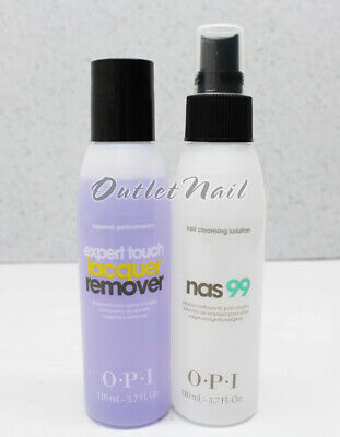 OPI GelColor Essentials 2pcs Kit: NAS 99 Nail Cleanser + REMOVER 4oz/120mL N.A.S