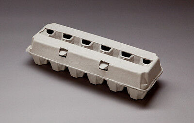 NEW - 100 BLANK Egg Cartons - 12ct -Molded Pulp Egg Cartons -12ct