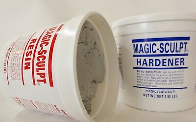 Magic-Sculpt self-hardening epoxy modeling clay 5 lb.Natural