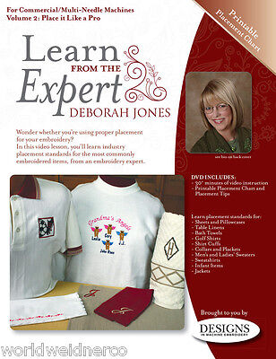 Designs in Machine Embroidery DIME Learn From the Expert Vol.2: Place Like a Pro