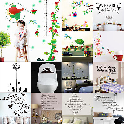 HOT SALE! DIY Art Wall Decal Decor Room Stickers Vinyl Home Mural Paper