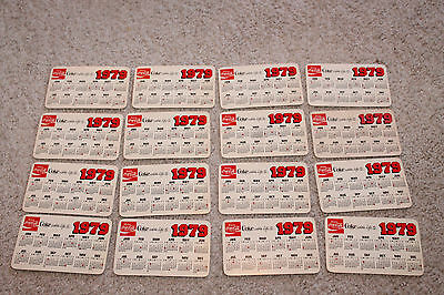 VINTAGE  1979 COCA COLA Pocket Calendar LOT