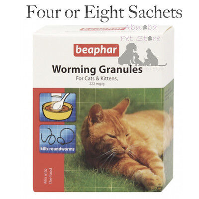 Beaphar Worming Granules Cat & Kittens Kill Roundworms Active Ingr. Fenbendazole