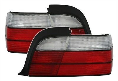 FEUX ARRIERE BLANC ROUGE BMW SERIE 3 E36 1992-1999 COUPE LOOK M3 318IS 320i