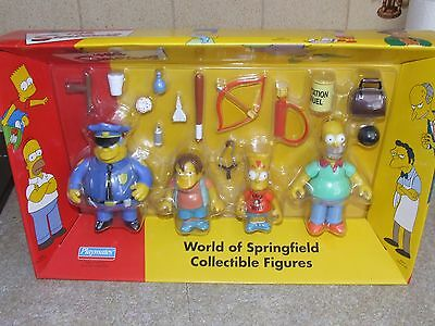 SIMPSONS - WORLD OF SPRINGFIELD - BNIB - Set of Collectible Posable Figures