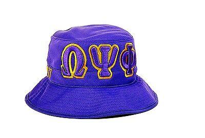 Omega Psi Phi Fraternity Founding Year Floppy Mesh Bucket Hat-New!