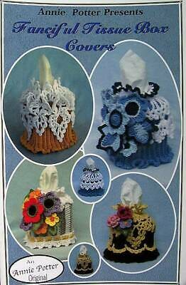 Crochet Fanciful Tissue Box Covers  Patterns Annie Potter Original