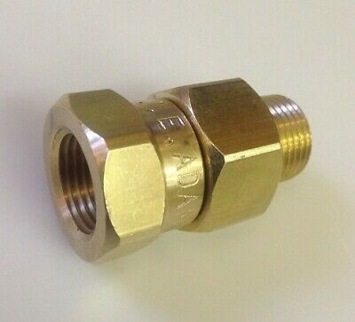 Pressure Washer Gun Or Hose Swivel 3/8 MxF Brass 3000PSI  J.E. Adams
