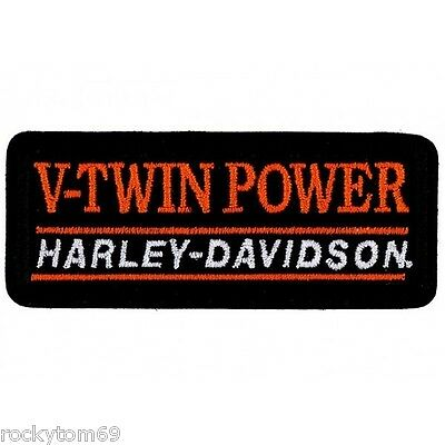 "EM1325662 - Harley-Davidson® V-Twin Power Patch 4 1/8"" W x 1 3/4"" RETIRED!!!"