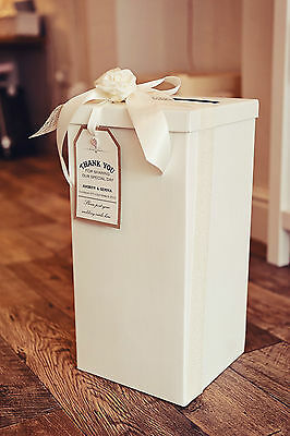 Wedding/Party Post Box & Vintage/Rustic/Shabby Chic tag & optional decorations